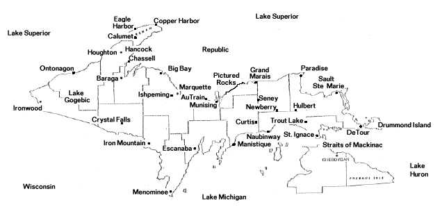 Up Michigan Map upper peninsula map